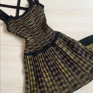 M Missoni zig zag yellow purple knit Chanel dress